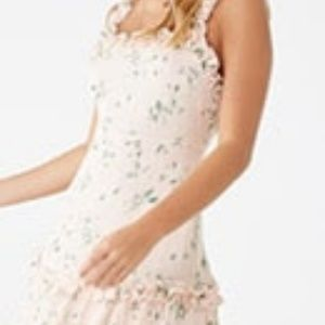 Dresses & Skirts - blush dres with floral detail